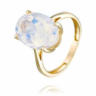 Кольцо из желтого золота 585 пробы с аметистом